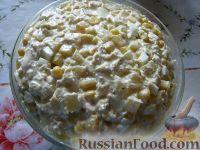 Фото приготовления рецепта: Салат из курицы с ананасами - шаг №10