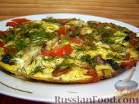 Фото к рецепту: Овощной омлет с грибами
