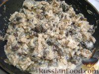 Фото приготовления рецепта: Куриный жульен с грибами - шаг №10