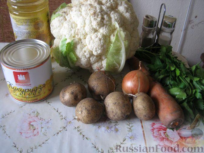 Постный рецепт с цветной капустой рецепт 194