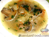 Фото к рецепту: Щи с грибами и квашеной капустой