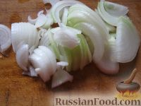 Фото приготовления рецепта: Салат с рукколой, базиликом и грибами - шаг №3