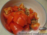 Фото приготовления рецепта: Салат с рукколой, базиликом и грибами - шаг №7