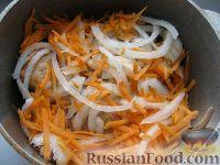 Фото приготовления рецепта: Курица с грибами и овощами в сметане - шаг №7