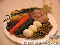 Фото приготовления рецепта: Оливье с индейкой и каперсами - шаг №1