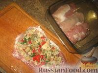 Фото приготовления рецепта: Крученики из свинины - шаг №5