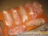 Фото приготовления рецепта: Крученики из свинины - шаг №6