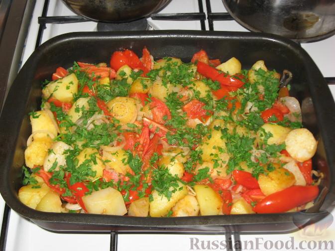 Блюда из картошки и помидор