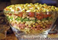 Фото к рецепту: Итальянский слоеный салат