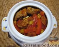 Фото приготовления рецепта: Свинина с овощами в горшочке - шаг №8