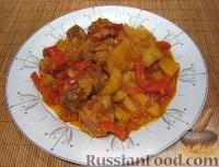 Фото приготовления рецепта: Свинина с овощами в горшочке - шаг №9
