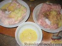 Фото приготовления рецепта: Рулет из куриного и свиного фарша - шаг №2