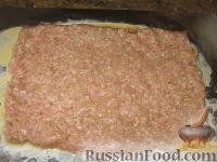 Фото приготовления рецепта: Рулет из куриного и свиного фарша - шаг №4