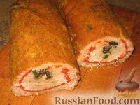 Фото приготовления рецепта: Рулет из куриного и свиного фарша - шаг №9