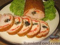 Фото приготовления рецепта: Рулет из куриного и свиного фарша - шаг №10