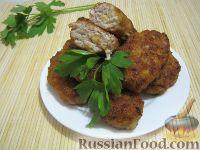 Фото к рецепту: Котлеты куриные а-ля «Пожарские» с сыром