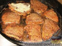 Фото приготовления рецепта: Печень на свекле - шаг №3