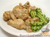 Фото к рецепту: Грудка курицы со сливками и грибами