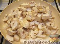 Фото приготовления рецепта: Грудка курицы со сливками и грибами - шаг №6