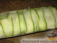 Фото приготовления рецепта: Куриный рулет с грибами в кабачке - шаг №5
