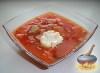 Фото к рецепту: Борщ с фасолью и квашеной капустой