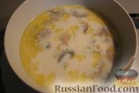 Фото к рецепту: Молочный суп с грибами