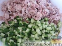 """Фото приготовления рецепта: Новогодний салат """"Лошадка"""" - шаг №10"""