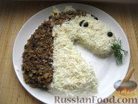 """Фото приготовления рецепта: Новогодний салат """"Лошадка"""" - шаг №17"""