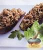 Фото к рецепту: Баклажаны, фаршированные рисом