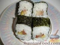 Фото приготовления рецепта: Суши по-домашнему - шаг №6