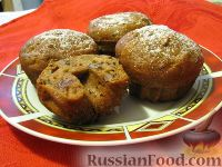 Фото к рецепту: Постные кексы-коврижки с орехами и сухофруктами