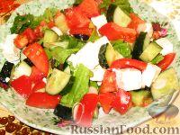 Фото к рецепту: Салат деревенский по-гречески
