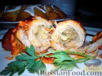 Фото к рецепту: Мясные рулетики с грибами