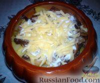 Фото приготовления рецепта: Картошка в горшочках с грибами - шаг №7
