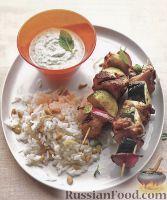 Фото к рецепту: Шашлыки из куриного филе, цуккини и лука