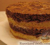 Фото приготовления рецепта: Новогодний торт «Полночь» - шаг №17