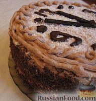 Фото приготовления рецепта: Новогодний торт «Полночь» - шаг №18