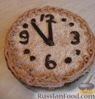Фото приготовления рецепта: Новогодний торт «Полночь» - шаг №19