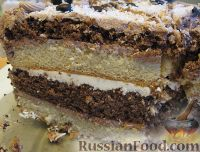 Фото приготовления рецепта: Новогодний торт «Полночь» - шаг №20
