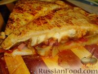 Фото к рецепту: Пицца Кальцоне
