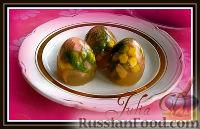 Фото к рецепту: Заливные яйца