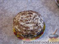 Фото к рецепту: Печёночный торт с грибами