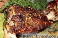 Фото к рецепту: Запеченная баранья нога