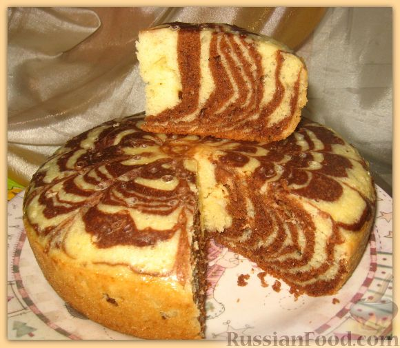 Рецепта пирог зебра шаг №4