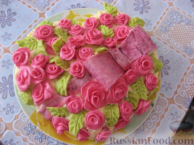 Рецепты с фото розы для торта