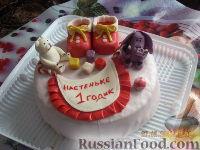 Фото к рецепту: Торт на годик для девочки!!!