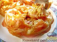 Фото к рецепту: Крабовые слоеные тарталеточки